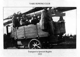 a truckload of rowers going to Ipswich